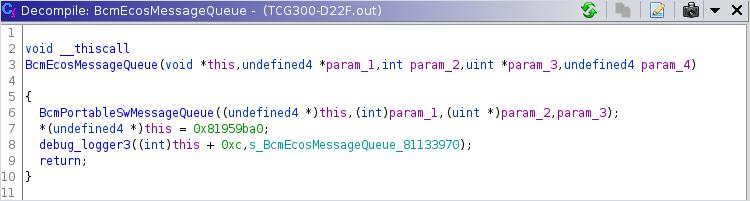 ecos c++ constructor