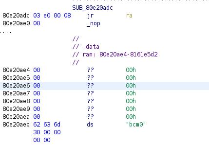 data section on netgear